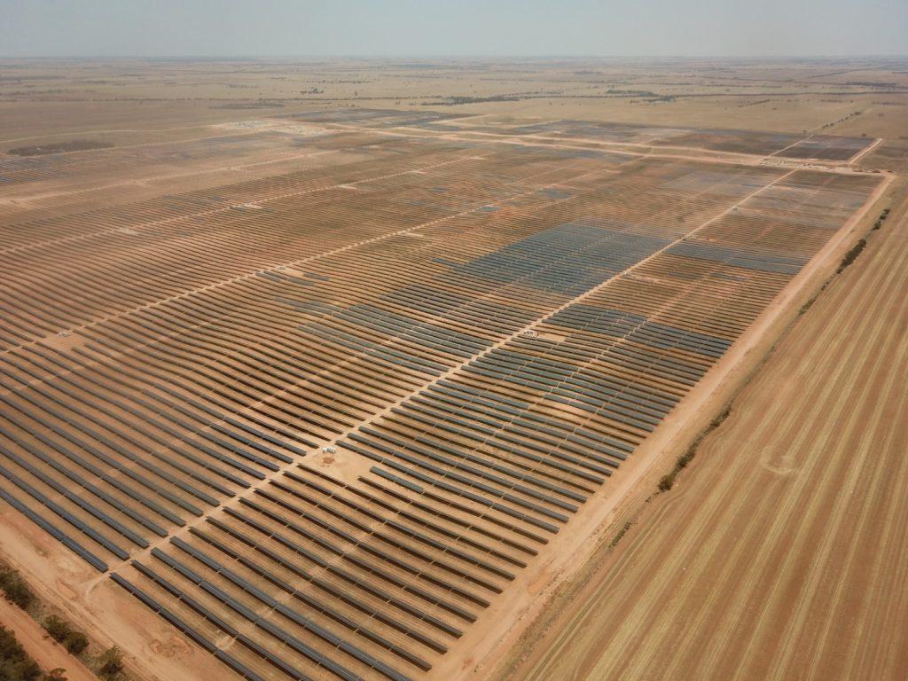 Aerial View of Kiamal Solar Farm